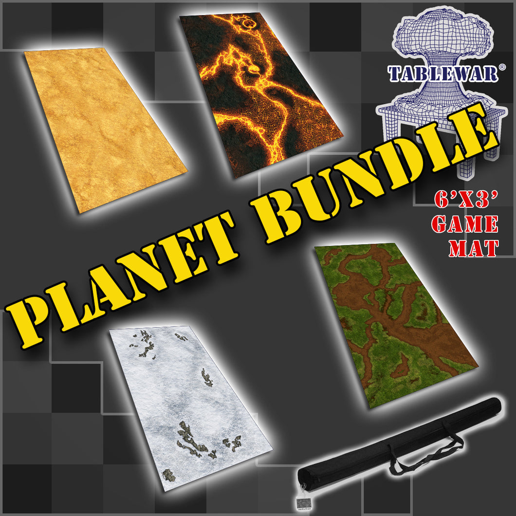 6x3 'Planet Bundle' F.A.T. Mat Gaming Mat