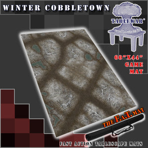 "60x44"" 'Winter Cobbletown' F.A.T. Mat"