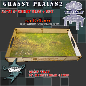 "Short Army Tray + 24x14"" Grassy Plains2 F.A.T. Mat"