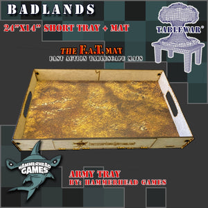 "Short Army Tray + 24x14"" Badlands F.A.T. Mat"