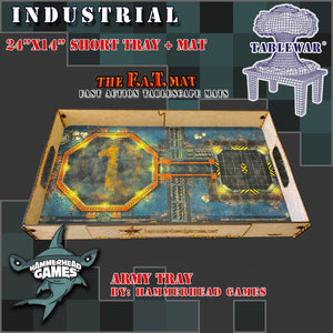 "Short Army Tray + 24x14"" Industrial F.A.T. Mat"