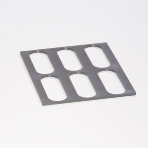 6x25mm Oval Unit Tray Topper