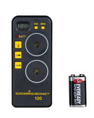 Screaming Meanie 110<br> Extra loud 120 dB alarm timer. <br>Simple to Set. Easy to Use.