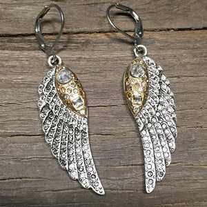 VINTAGE SILVER RAVENNA MINI WING EARRINGS