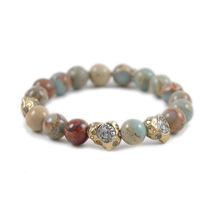 SIENA BLUE OPAL STRETCH BRACELET