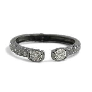 GUNMETAL TUSCANY DOUBLE COIN BANGLE