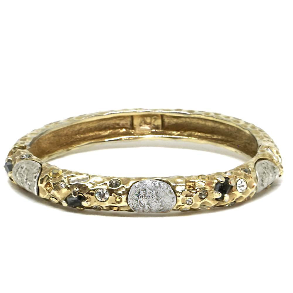 GOLD OVAL EMPIRE BANGLE