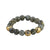 GOLD CERA FACETED LABRADORITE STRETCH BRACELET