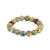 GOLD CERA BLUE OPAL STRETCH BRACELET
