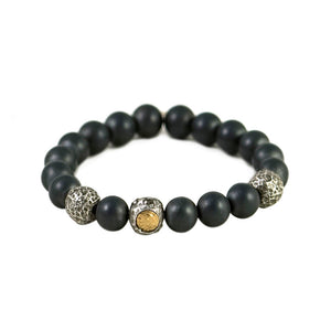 VS BILBAO MENS HEMATITE STRETCH BRACELET