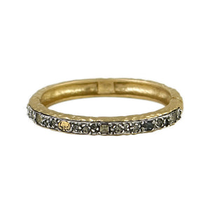 GOLD IBIZA HAMMERED THIN BANGLE