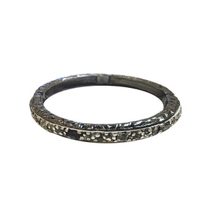 GUNMETAL IBIZA HAMMERED THIN BANGLE