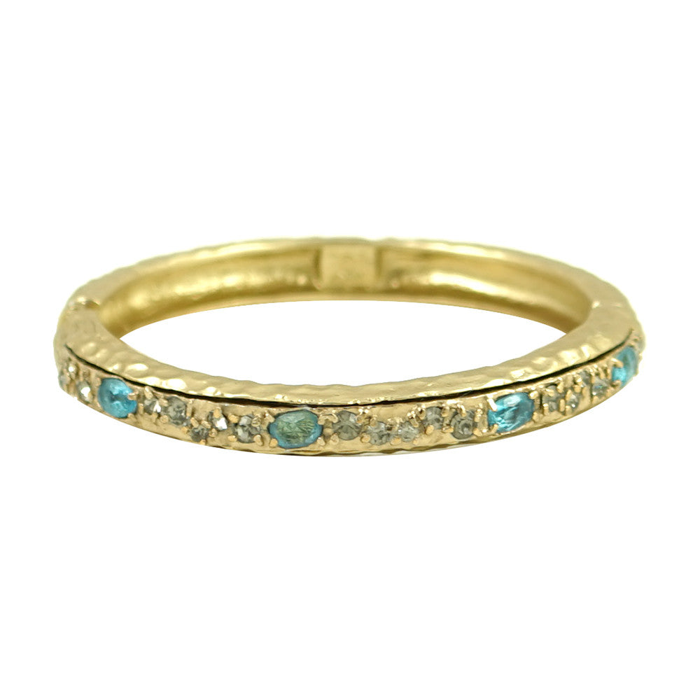 GOLD & BLUE TOPAZ GALANTA BANGLE