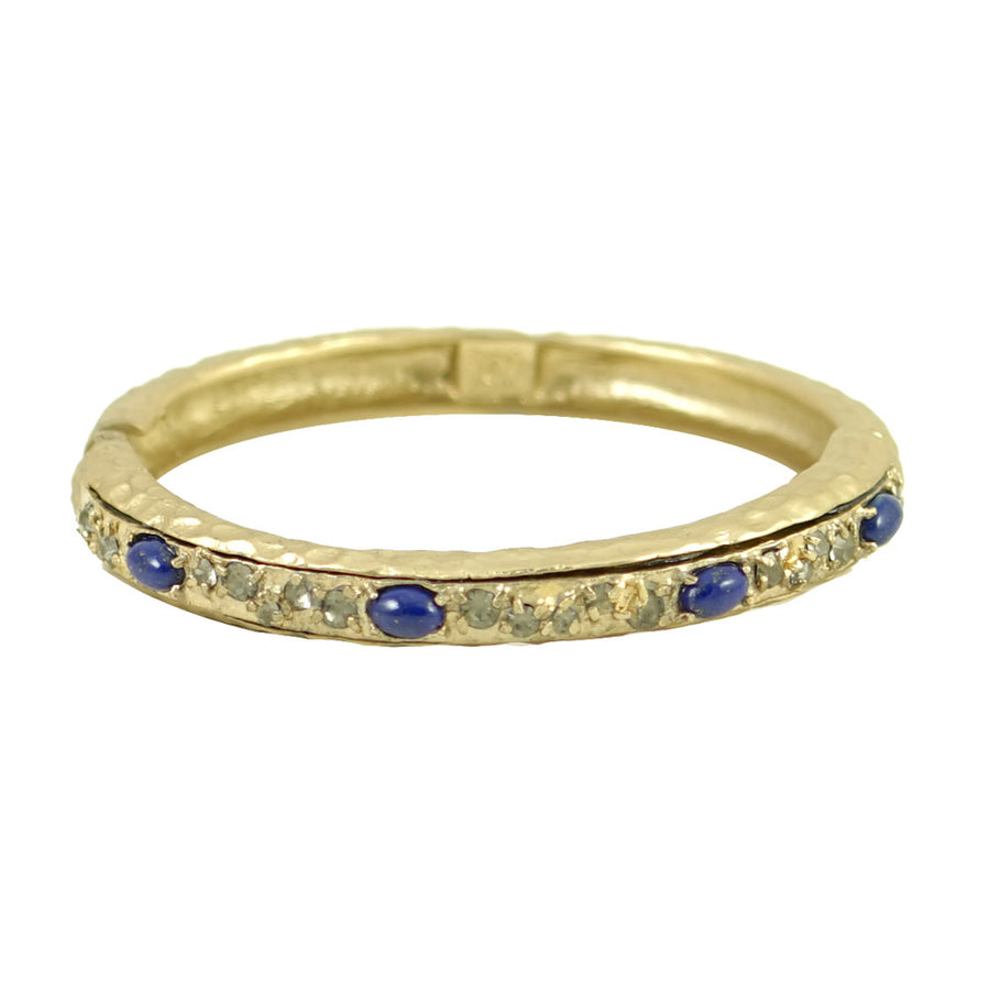 GOLD & LAPIS GALANTA BANGLE