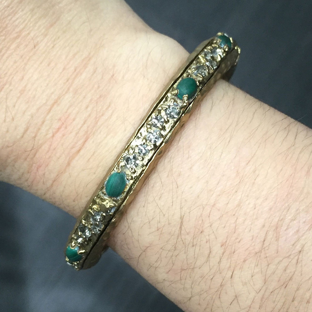 GOLD & MALACHITE GALANTA BANGLE