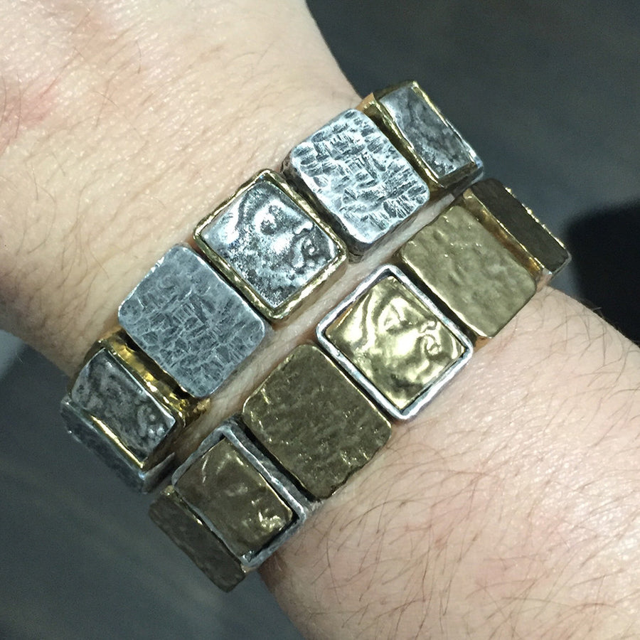 GOLD CLOCH ROMAN MAN STRETCH BRACELET