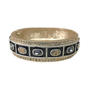 GOLD ASHTA OVAL THICK BANGLE