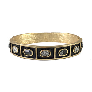 GOLD KERU OVAL THIN BANGLE