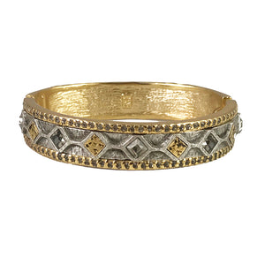 GOLD SURAT DIAMOND SHAPE COIN BANGLE