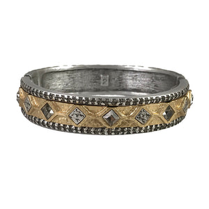 VINTAGE SILVER SURAT DIAMOND SHAPE COIN BANGLE