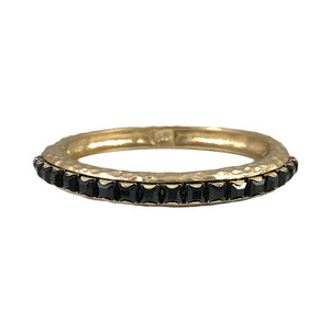 GOLD NERO JET BANGLE