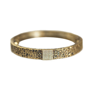 VINTAGE GOLD ARTÍS PAVÉ SQUARE BANGLE