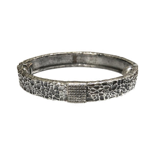 VINTAGE SILVER ARTÍS PAVÉ SQUARE BANGLE