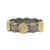 VINTAGE SILVER & GOLD SINGLE ROW COIN BANGLE