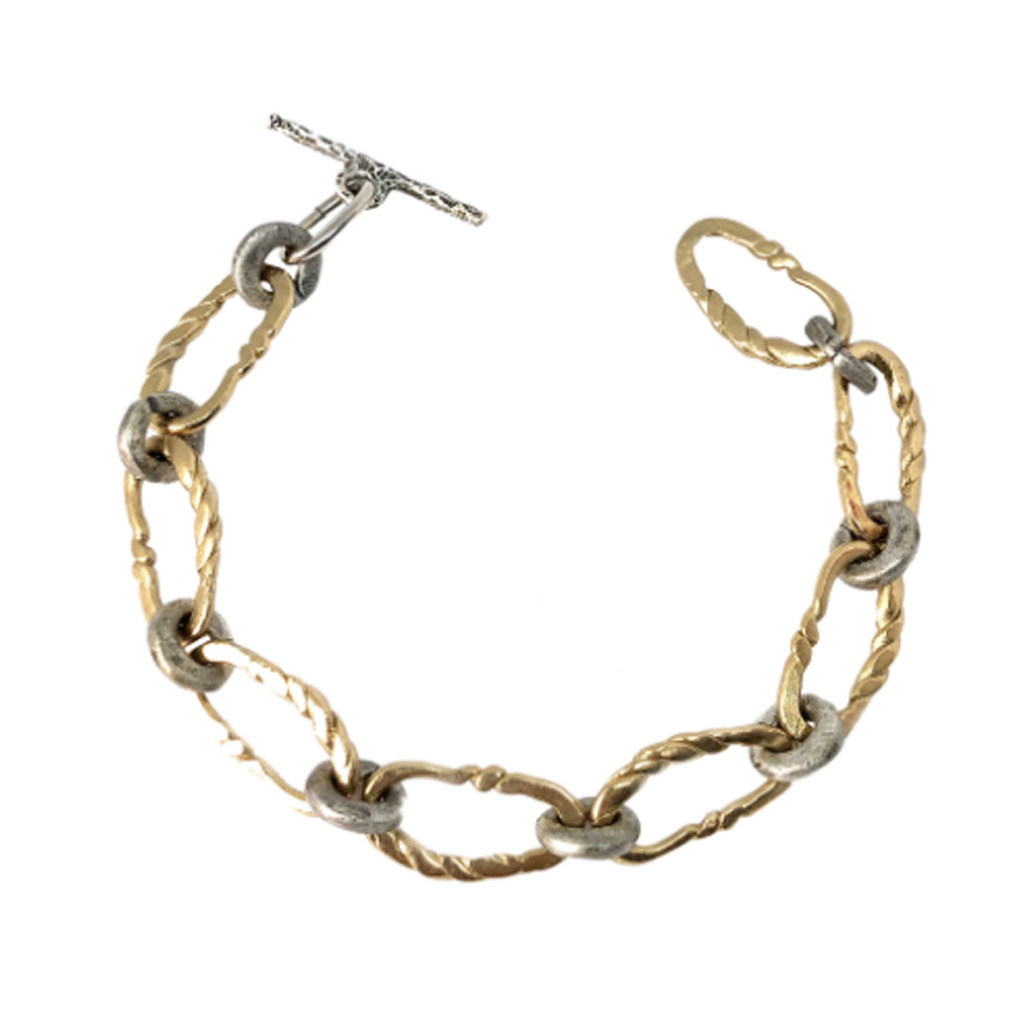 GOLD TWISTED LINK BRACELET