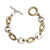TWO TONE MINI LOOP LINK BRACELET