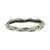 VINTAGE SILVER THIN WAVE IMPRESSION BANGLE