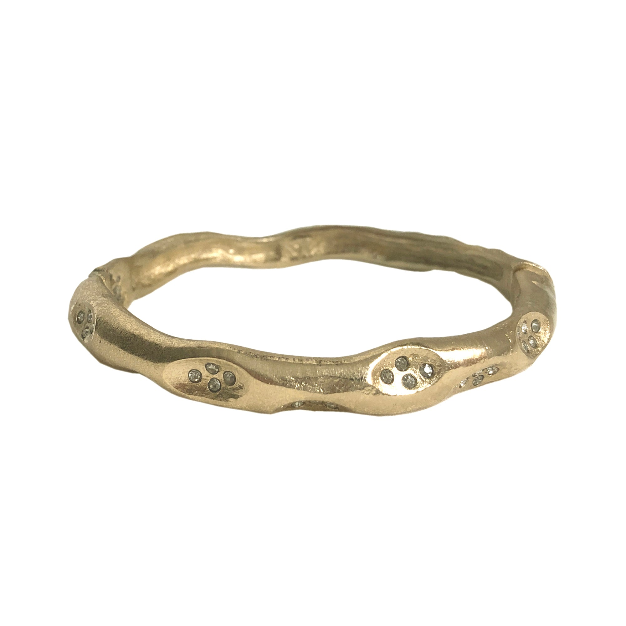 GOLD THIN IMPRESSION BANGLE