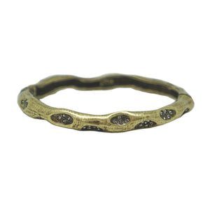 VINTAGE BRASS THIN IMPRESSION BANGLE
