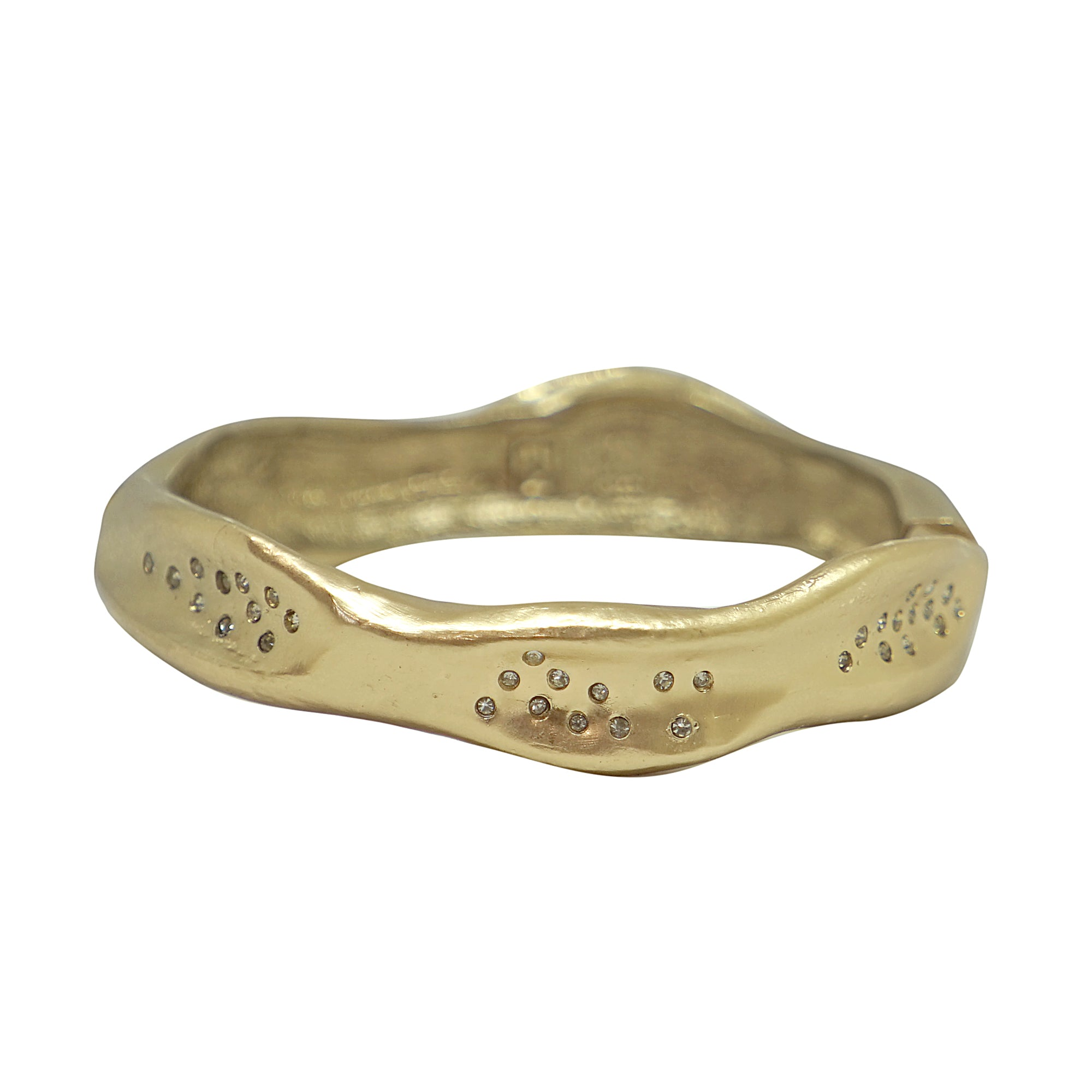GOLD MEDIUM IMPRESSION BANGLE