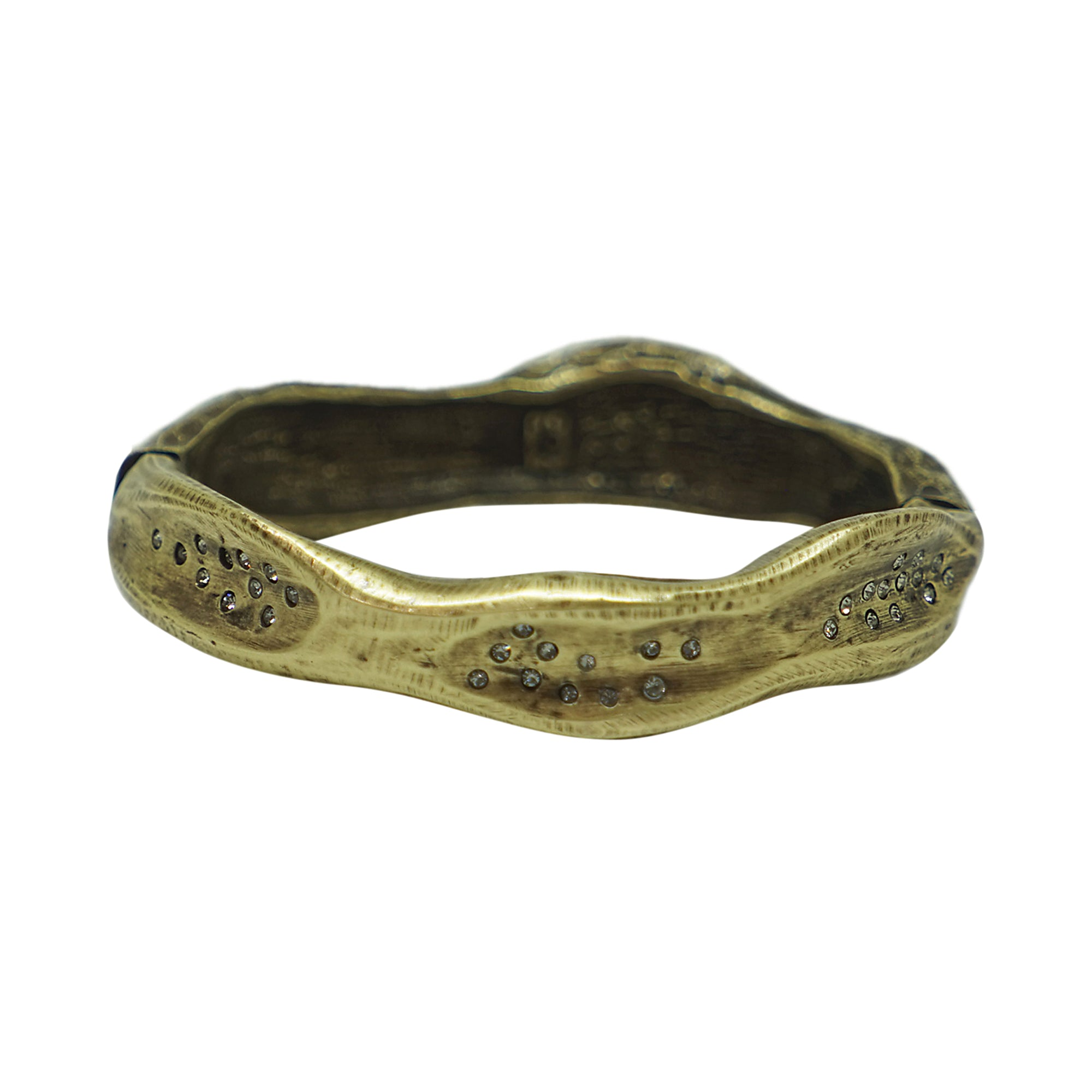 VINTAGE BRASS MEDIUM IMPRESSION BANGLE