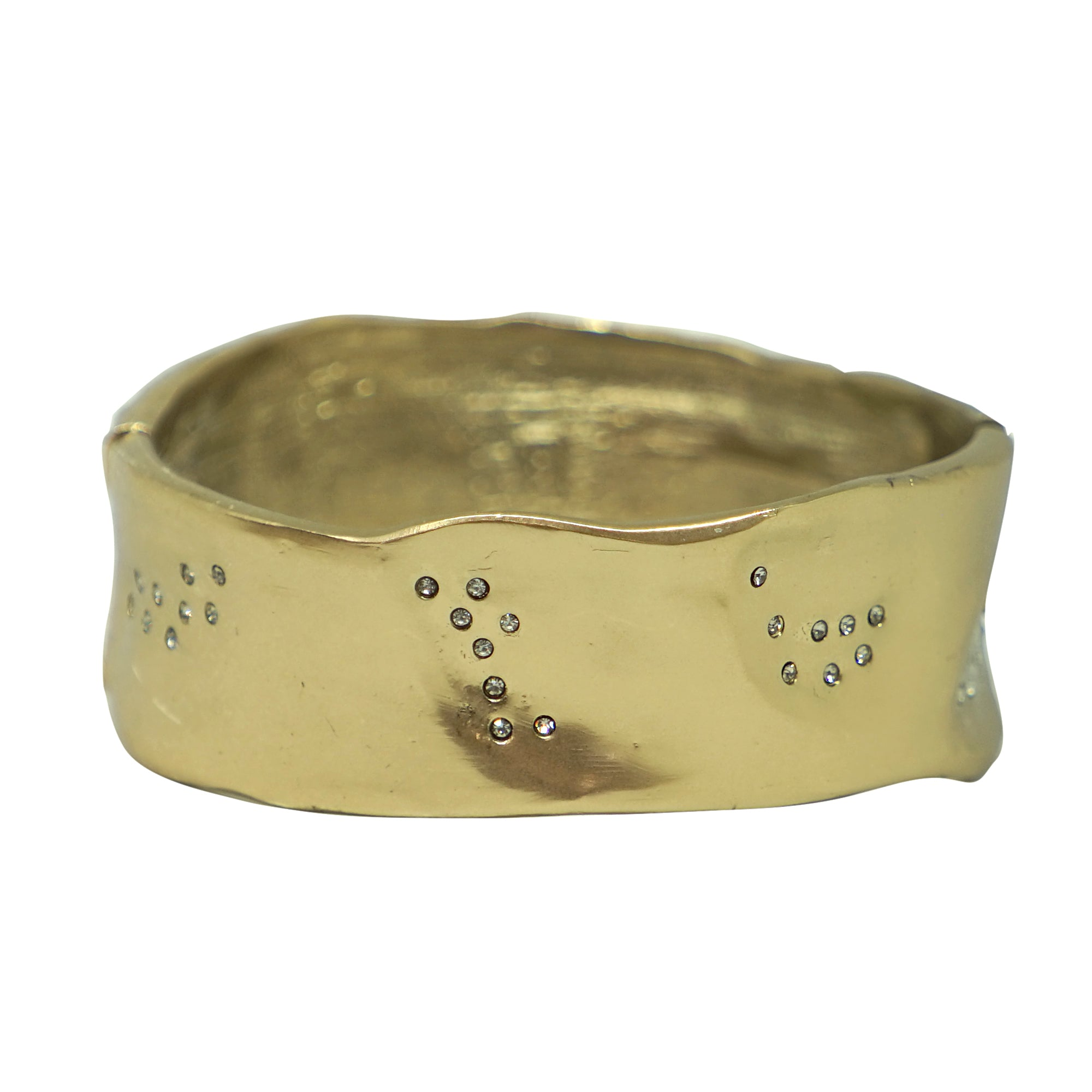 GOLD WIDE IMPRESSION BANGLE
