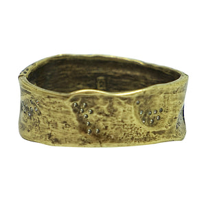 VINTAGE BRASS WIDE IMPRESSION BANGLE