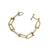 TWO TONE FLAT LINK AND HORSESHOE LINK BRACELET