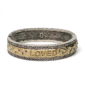 VINTAGE SILVER LOVED BANGLE