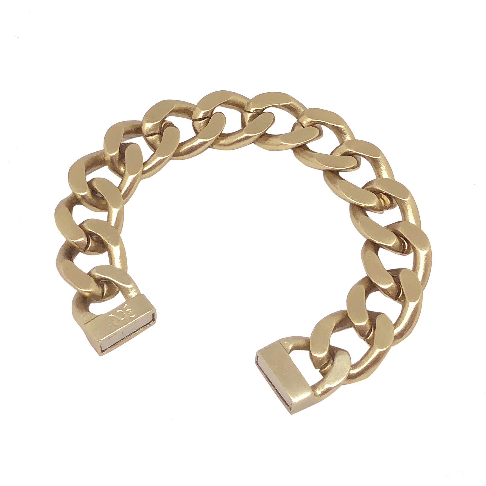 GOLD ID CHAIN BRACELET