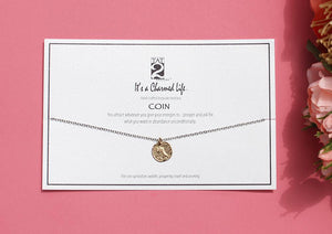 GOLD COIN KEEPSAKE CHARMED LIFE NECKLACE