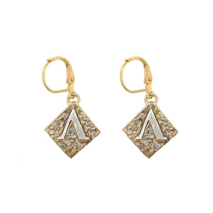 GOLD CLASSIC A EARRINGS