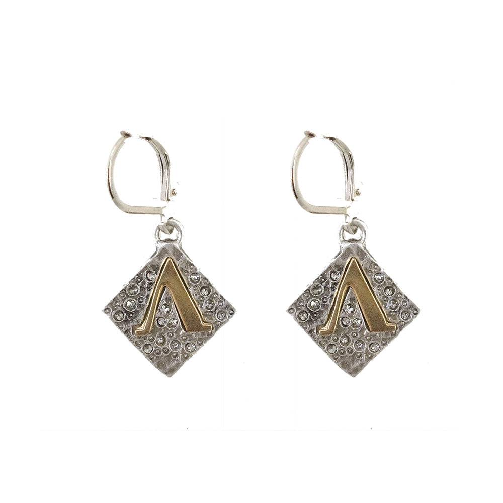 VINTAGE SILVER CLASSIC A EARRINGS - Tat2 Designs