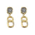 GOLD PAVIA COIN & LINK EARRINGS