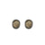 GOLD PAVIA COIN & FRAME STUD EARRINGS