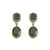 GOLD PAVIA PAVE & LABRADORITE EARRINGS