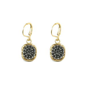 GOLD PAVIA PAVE & FRAME DANGLE EARRINGS