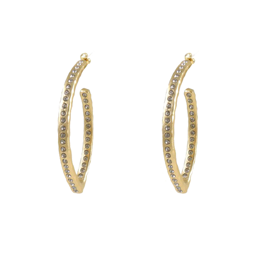 GOLD ATHENIA V-SHAPE HOOPS