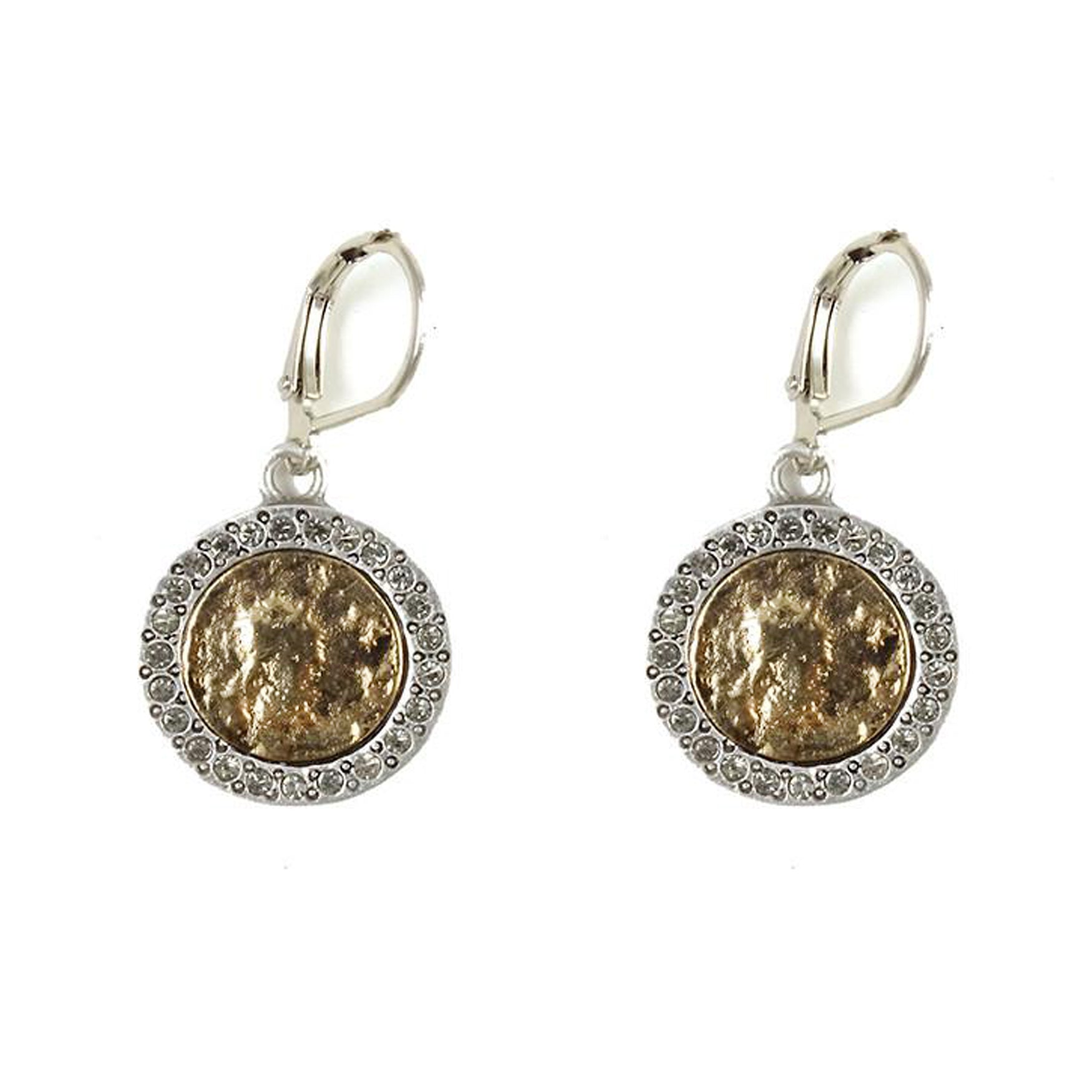 VINTAGE SILVER HESTIA COIN EARRINGS