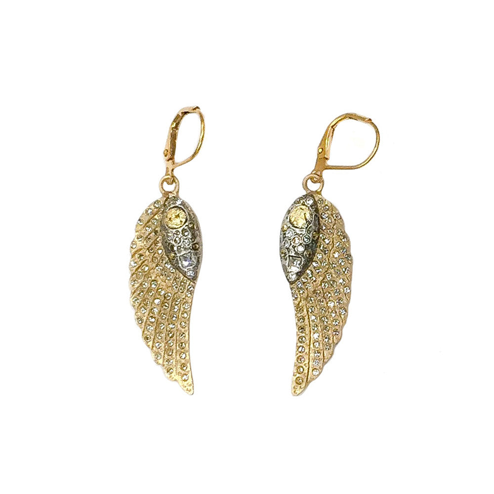 GOLD RAVENNA MINI WING EARRINGS